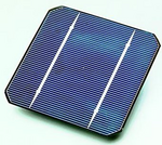A photovoltaic cell produces electricity directly from solar energy